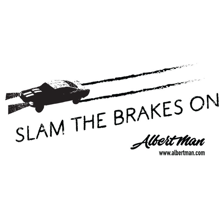 Slam the Brakes On merchandise artwork - car