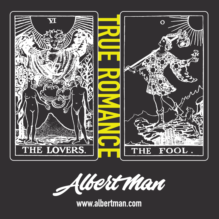 True Romance merchandise artwork - tarot cards
